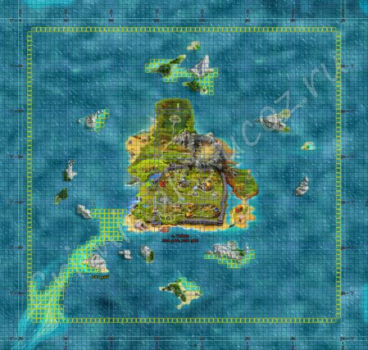 Карта океана М 1:1